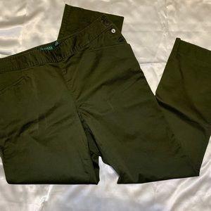 Ralph Lauren premium olive green pants size 14